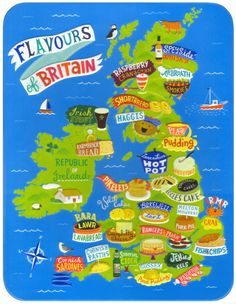 Linzie Hunter -- Maps  on Behance  Biscuit tin designs.  Client: Marks and Spencer
