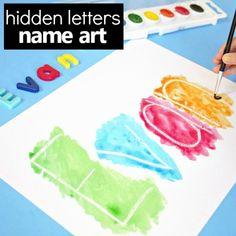 Hidden Name Art Preschool Name Activity - Fantastic Fun & Learning