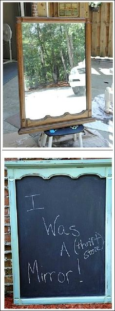 distressed painted furniture...I wonder if it would be less distressed if people would have left it alone...maybe it was happy being a thrift store mirror....