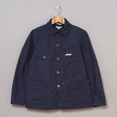 Engineered Garments Coverall Jacket in Navy 11.5oz Duck Canvas