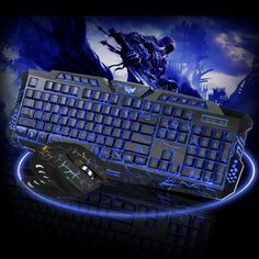 756332c4bf7 LED Gaming Wired 2.4G USB 2.0 keyboard Mouse Set For Computer Multimedia  G11 (eBay Link)
