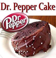 Dr Pepper Cake - Sweet Treat Eats. Via http://www.sweettreateats.com/dr-pepper-cake/