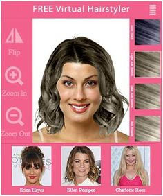 Virtual Hairstyles Free Hairstyles Haircuts And Hair Colors  Pinterest  Hair Style 50