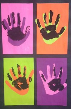 KCaDakota1's art on Artsonia  Warhol Pop Palm Prints  first grade