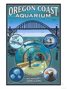 Oregon Coast Aquarium - Lantern Press Original Poster Posters by Lantern Press at AllPosters.com