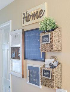 Farmhouse style family command center #InteriorDesignIdeas