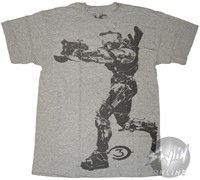 Halo 3 Spartan Pointing Gray T-Shirt by Stylin Online - Teenormous.com