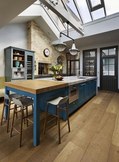 Roundhouse Classic bespoke blue kitchen