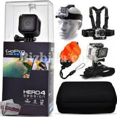 GoPro HERO4 Hero 4 Session + Premium Case, Headstrap, Chest Harness, Wrist  By GSON International Inc. From United States