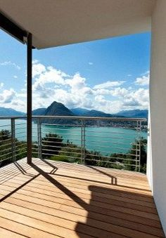 Breathtaking bay view. Sun deck with stainless steel cable railing. Deck railing ideas.