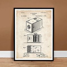Vintage First Box Camera George Eastman Kodak 1888 Us Patent Print Poster Gift Unframed Poster Store, Sale Poster, Art Posters, Poster Prints, Box Camera, Patent Prints, Card Sizes, Giclee Print, Fine Art