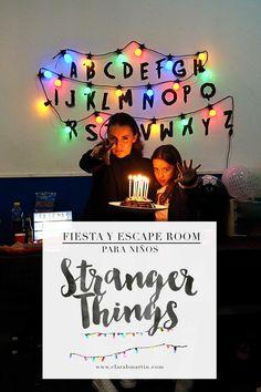 Letras Stranger Things, Escape Room Diy, Escape Room Puzzles, Halloween Party, Birthday, Kids, Party Ideas, Rooms, Escape Room