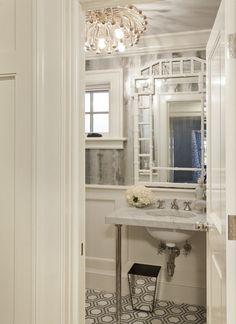 Crisp white and glamorous details