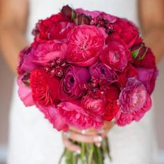 LOVE LOVE LOVE WANT WANT WANT!!!!   Pink Purple Bouquet {Floral V Designs} #weddings #flowers