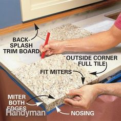 Remodeling Kitchen Countertops How to Install Granite Countertops (Kitchen Tile) - Granite tile gives you the appearance of a solid-stone slab at one-third the cost. We'll show you the techniques for a first-rate job.