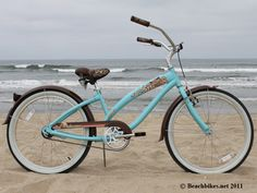 "Nirve Island Flower Single Speed, Coral Teal - Women's 24"" Beach Cruiser Bike"