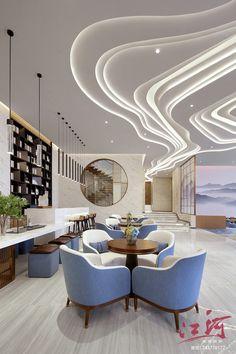 Lobby Interior, Interior Walls, Interior Lighting, Interior Architecture, Interior And Exterior, Interior Design, Mall Design, Lobby Design, Home Room Design