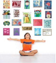 Put up those plentiful kiddie masterpieces in a flash with this ingenious magnetic hanging system.