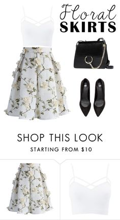 """""""Floral Skirts"""" by closetaccessofficial ❤ liked on Polyvore featuring Chicwish, Charlotte Russe and plus size clothing"""