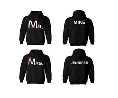 Mr Mrs Disney inspired Couple hoodies personalized by TrendyyTops