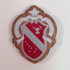 Alpha Phi MINI Wood Crest For Paddles Mascot by GreekLifeStuff