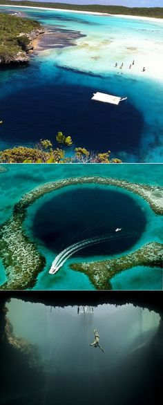 from exPress-o: Travel - Dean's Blue Hole - 2nd deepest underwater sinkhole in a bay west of the Bahamas