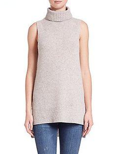 64c4eaef427962 360 Cashmere - Sleeveless Cashmere Turtleneck Sweater