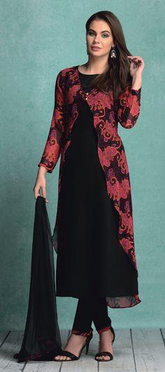 LS-1406 - Black - Suits - Ladies Wear - Diya Online