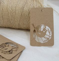 Lasercut gift tags
