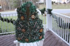 The More the Merrier - Layers of Happiness Tacky Sweaters, Christmas Wreaths, Christmas Tree, Layers, Merry, Happiness, Holiday Decor, Happy, Teal Christmas Tree