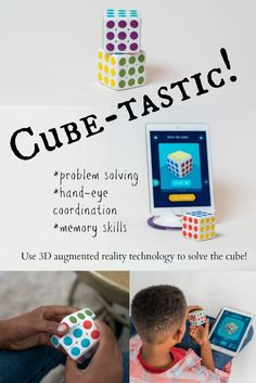 Cube-tastic! is fantastic for those up to the challenge of learning & having fun! This hands on math cube helps with memory skills, coordination and much more using a 3D augmented reality system! ad