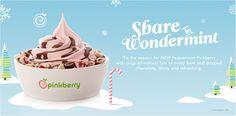 Pinkberry peppermint frozen yogurt.