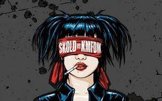 One of the many amazing KMFDM album artworks.   SKOLD vs. KMFDM by Kevin Marburg.
