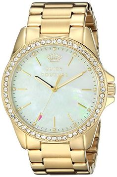 Women's Wrist Watches - Juicy Couture Womens 1901261 Stella Analog Display Quartz Gold Watch ** More info could be found at the image url.