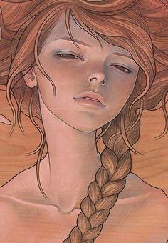 """She Entwined"" art print by Audrey Kawasaki."