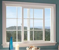 Sliding windows like this are great over a counter or sink.
