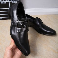 2017 New Arrival Black Business Oxford Shoes Men Soft Leather Chaussure Homme Flats Espadrilles With Buckle Office Dress Shoes -*- AliExpress Affiliate's buyable pin. Details on product can be viewed on www.aliexpress.com by clicking the VISIT button