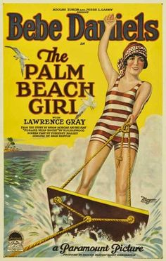 Movie Poster - Bebe Daniels, The Palm Beach Girl, 1926