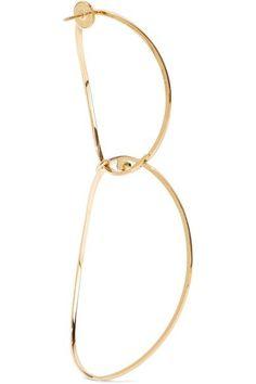 Delfina Delettrez - 18-karat Gold, Diamond And Sapphire Earring - one size