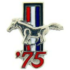 """Mustang '75 Logo Pin 1"""" by FindingKing. $8.99. This is a new Mustang '75 Logo Pin 1"""" New Mustang, Pin Logo, Tear, Lapel Pins, Brooch Pin, Brooches, Jewelry, Products, Brooch"""