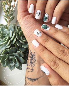 Nail art Christmas - the festive spirit on the nails. Over 70 creative ideas and tutorials - My Nails Nail Manicure, Nail Polish, Summer Shellac Nails, Ten Nails, Natural Gel Nails, Nail Patterns, Pattern Nails, Super Nails, Perfect Nails