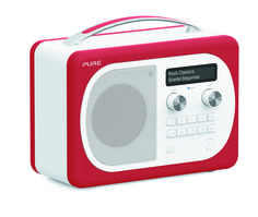 Evoke Mio with Bluetooth is the latest version of this iconic portable DAB digital and FM radio, featuring leather effect casing with interchangeable coloured trims that are available to match any accessory in your home. Digital Radio, Scarlet, Bluetooth, Polka Dots, Pure Products, Classic, Leather, Stuff To Buy, Carousel