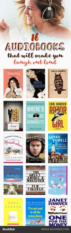 16 funny audiobooks for adults, including Bossypants by Tina Fey.