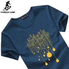 c94adc2c9c Barato Campamento de pioneros verano t camisa de los hombres ropa de marca  de alta calidad