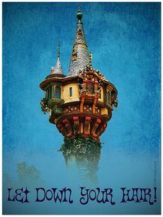 Rapunzel's tower in Fantasyland at the Magic Kingdom.