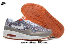 Nike Air Max 1 87 Womens Shoes Gray Flower For Wholesale