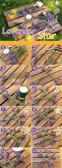 Lavender Star DIY -- Love doing this!!! Nice Instructions (Don't forget - You can also incorporate number magick) -- #wicca #pagan #diy                                                                                                                                                      More