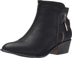 Madden Girl Women's Hunttz Boot, Black Paris, 6 M US