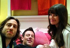 RIP Cory Monteith: Glee Star and Girlfriend Lea Michele's Cutest Moments  Director Brad Falchuk, Cory Monteith, and Lea Michele Film Glee's Valentine's Day Episode in Rachel's Bedroom on January 23, 2012