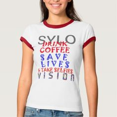 #Vision SYLO Drink Coffee save Life work out VNeck T-Shirt - #funny #coffee #quote #quotes
